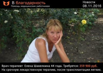 Елена Шавёлкина - терапевт ГКБ 68 (на пенсии)